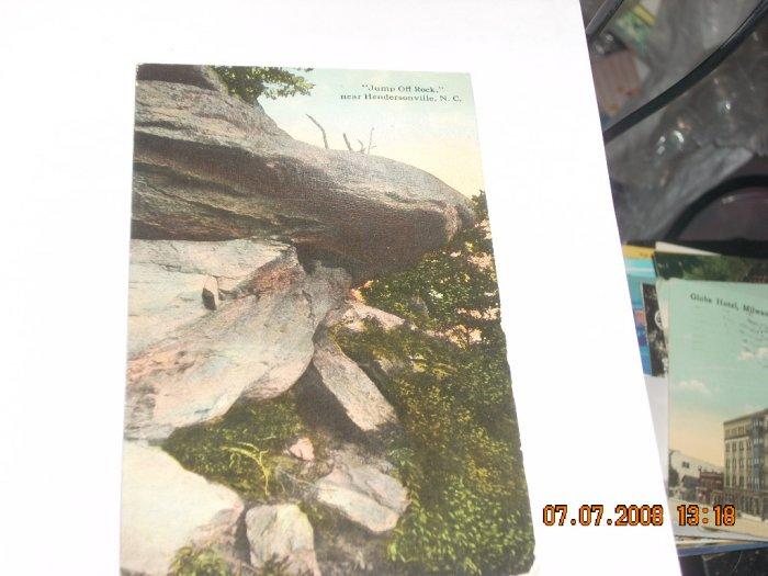 vintage postcard  hendersonville north carolina