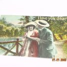 I love you dearly postcard vintage
