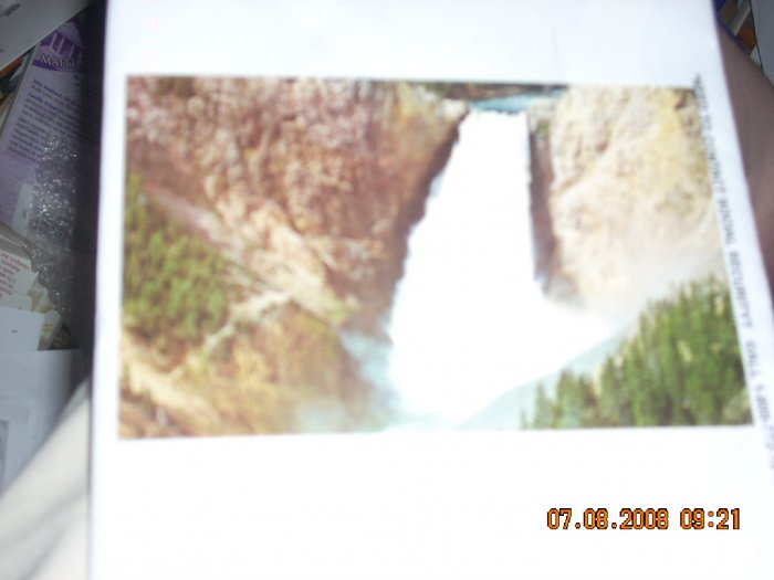 mirro-krome hs crocker lower falls yellowstone national park