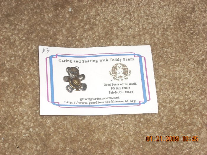 Good bears of the World souvenir pin