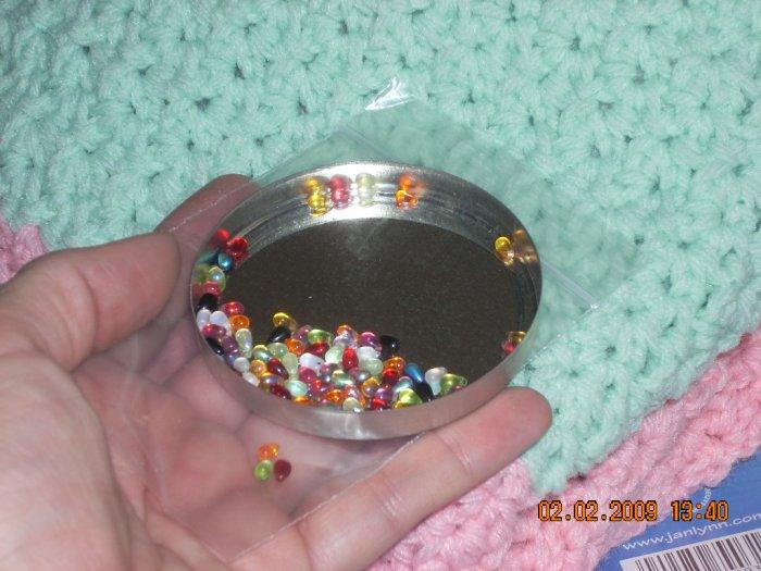 tiny teardrop beads 3 by 5 mm  dollhouse miniatures mixed set