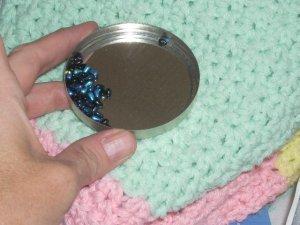 tiny teardrop beads 3 by 5 mm  dollhouse miniatures black irid