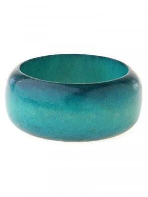 Turquoise blue, wood bangle bracelet. ~ Just7even