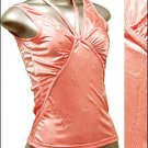 Pretty Satiny String V-Neck Halter/Tank Top Pink size L * Juniors Clothing Fashion * Just7even