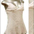Sexy & Classy Sheer Tunic Tank Top w Sequins White sz S * Spaghetti Strap Suplice * Just7even