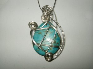 Wire Wrapped Pendant w/chain