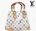 LV multi-coloured sigature handbag