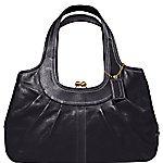 Black leather coach satchel