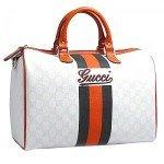 Genuine leather Gucci weekend bag