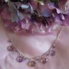 Victorian style handmade semi precious necklace Amytrine Passion Persuasion