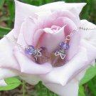 Amytrine threadder Fairy light handmade semi precious earrings