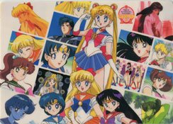 Sailor Moon shitajiki/ pencil board group