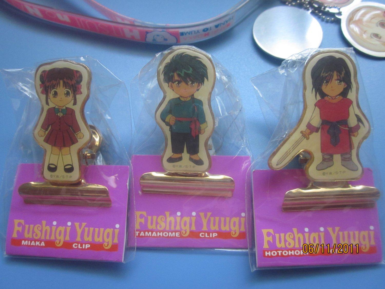 Fushigi Yuugi Metal clips from Japan