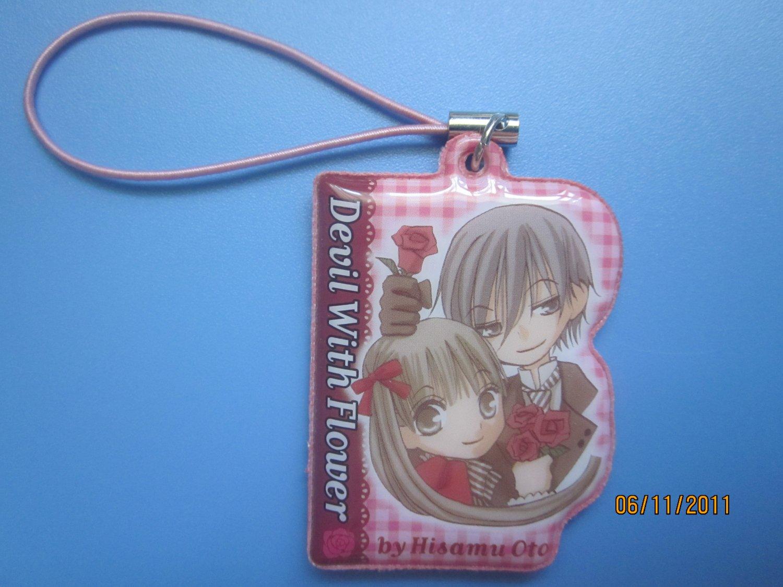 Furoku Devil with Flower cel phone strap