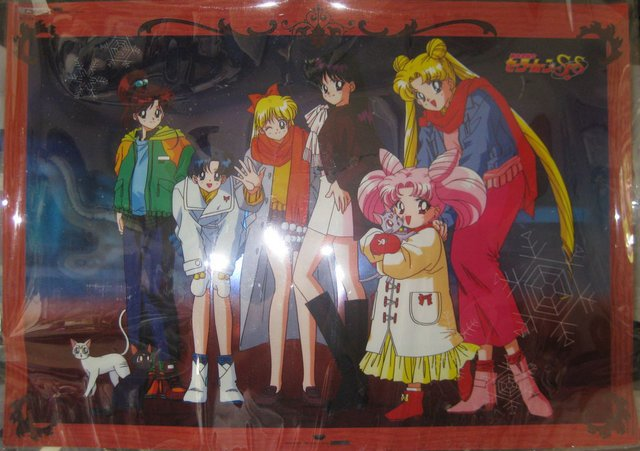 Sailor Moon Banpresto group clear special poster