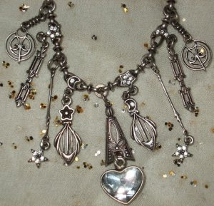 Kirks Folly art deco silver necklace
