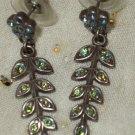 Kirks Folly green leaf simple earrings