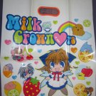 Milk Crown Lover's furoku shopper bag