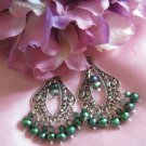Peacock Passion gypsy earrings
