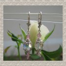 Simply elegant Pink and clear crystal earrings
