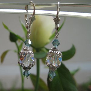 Simply elegant montanna blue crystal earrings