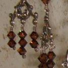 Brown crystal chandelier earrings