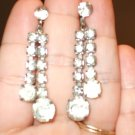 Vintage Crystal earring drops (Clip)