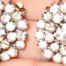 Vintage Rinestone (crystal, clip) earrings