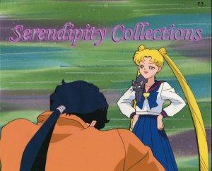 Sailor Moon, Usagi & Seiya animation cel