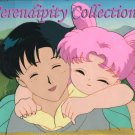 Sailor Moon: Mamoru & daughter (Chibi Usa) animation cel (Beautiful!)