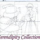 Bleach Ichigo & excorsist Production sketch and background set