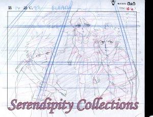 Bleach Ichigo, Kon, & Ruikia animation sketch and background set