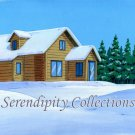 Snow and house production background
