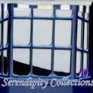 Mansion window with forground production background