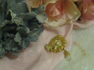 Kirk's Folly Periwinkle Pink Pansy pin