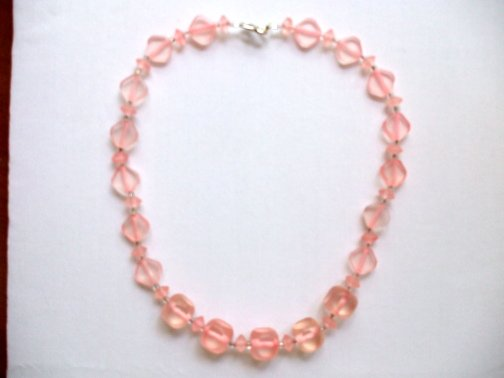 Light Pink Acrylic Necklace