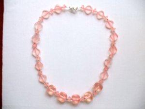 Light Pink Acrylic Necklace