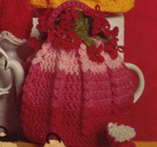 Vintage 1950's Crochet Tea Cozy Pattern Flower Cosy Reproduction PDF Wee Designs