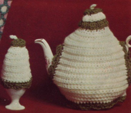 Vintage 1950's Simple Crochet Tea Cozy Pattern Cosy Reproduction PDF Wee Designs
