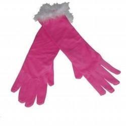 Dress Up Gloves w/Marabou - Large - 7298892 - (stock:25)