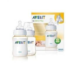 Philips AVENT 528 SCF66327KS Extra Durable 9-ounce Natural Feeding Bottle, Twin Pack-6999001