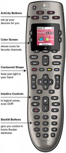 Logitech Harmony 650 Remote (Silver)-915000114