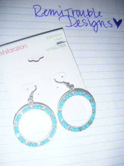 xhiliration turquoise colored loop earrings
