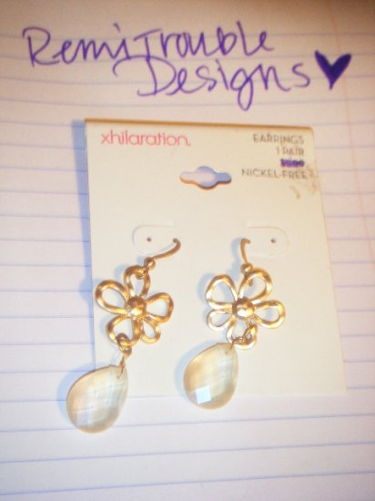 xhiliration flower dangling earrings