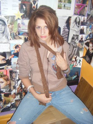 brown rock & roll hoodie