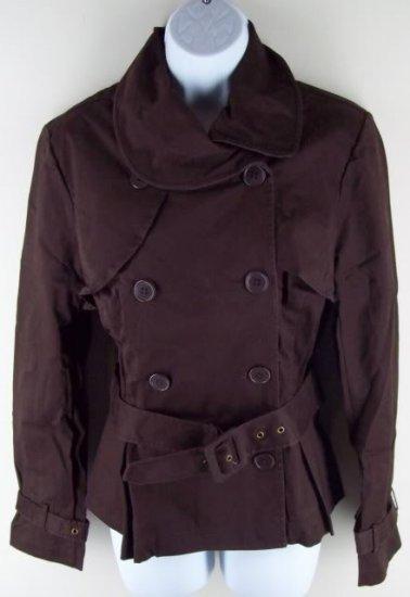 Victoria's Secret Lightweight Brown Sateen Jacket 14 NEW $88