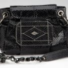 Rafe Black Genuine Snake Inlay Crossbody Purse Bag NEW $250