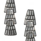 Amrita Singh Eleanor Austrian Crystals Gunmetal Chandelier Earrings NEW Ret $120