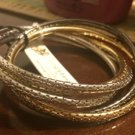 Amrita Singh Tecti 5 Piece Interlocking Bangle Bracelet Set Lot Size 8 NEW $60
