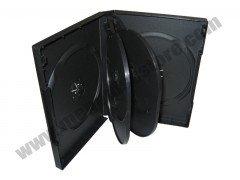 27mm DVD Case 6-in-1 Black 10 pcs/Pack